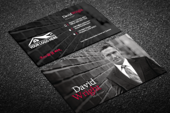 modern veritcal real estate business card w portrait - Unique Real Estate Business Cards