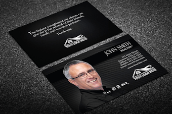 Real estate business cards free shipping graphical dark real estate business card w agent reheart Image collections